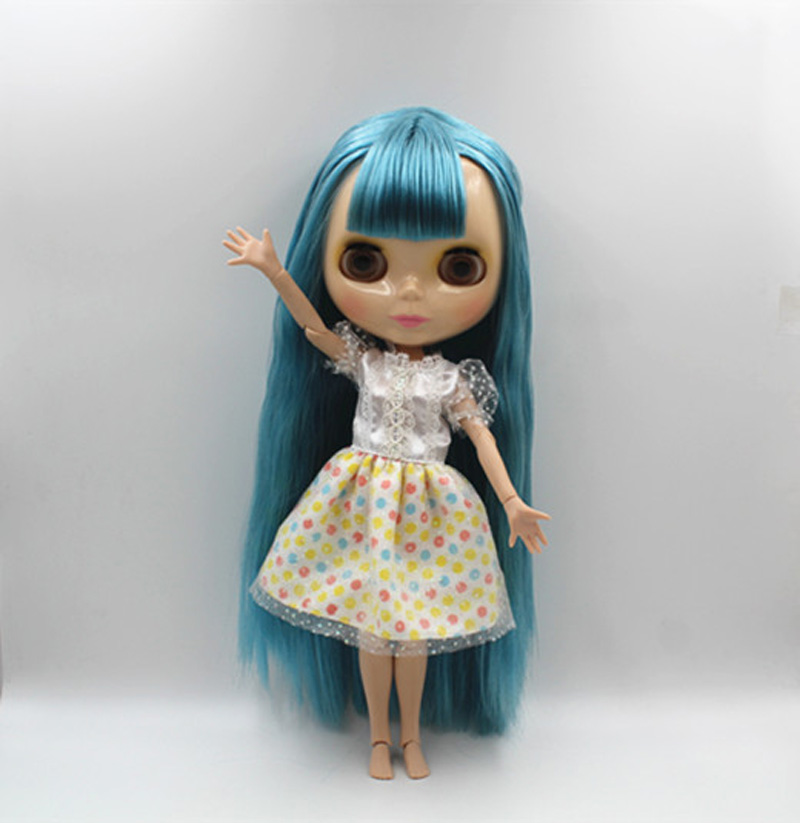 Free Shipping BJD joint RBL-376J DIY Nude Blyth doll birthday gift for girl 4 colour big eyes dolls with beautiful Hair cute toy free shipping nude blyth doll pink hair big eye doll for girl s gift pj002