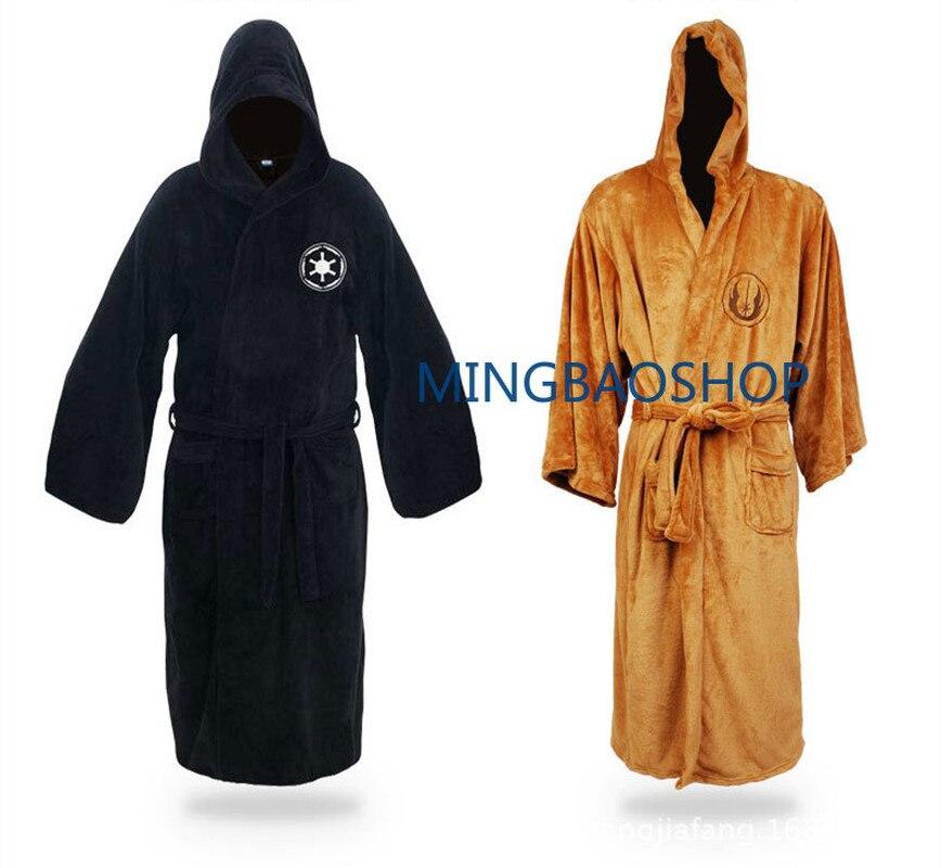 2019 Vrouwen Wen Knight Robe Deluxe Badjas Darh Vader Cosplay Kostuum Bruin Gewaad Jurk Slapen Slijtage Pyjama Esthetisch Uiterlijk