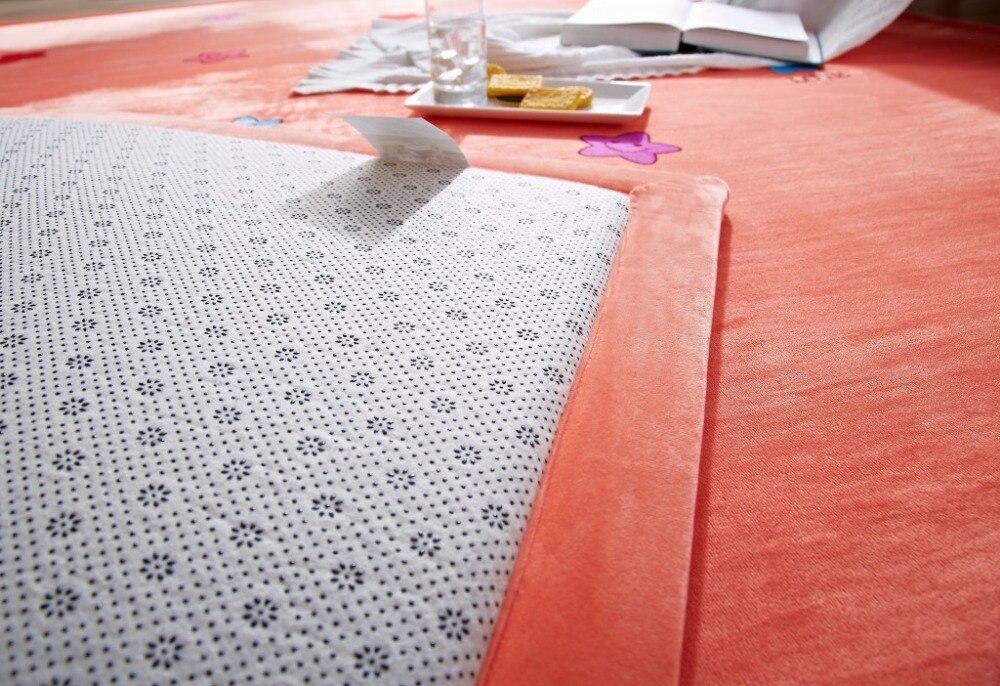 Tapis et tapis de couleur unie pour la maison salon Super doux tapis anti-dérapant 5 couleurs Rectangle forme tapis bébé canapé tapis - 3