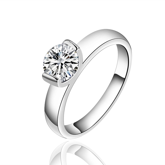 54290e4b083f 925 anillo de plata esterlina 925 anillos de plata para las mujeres Piedra  natural big CZ