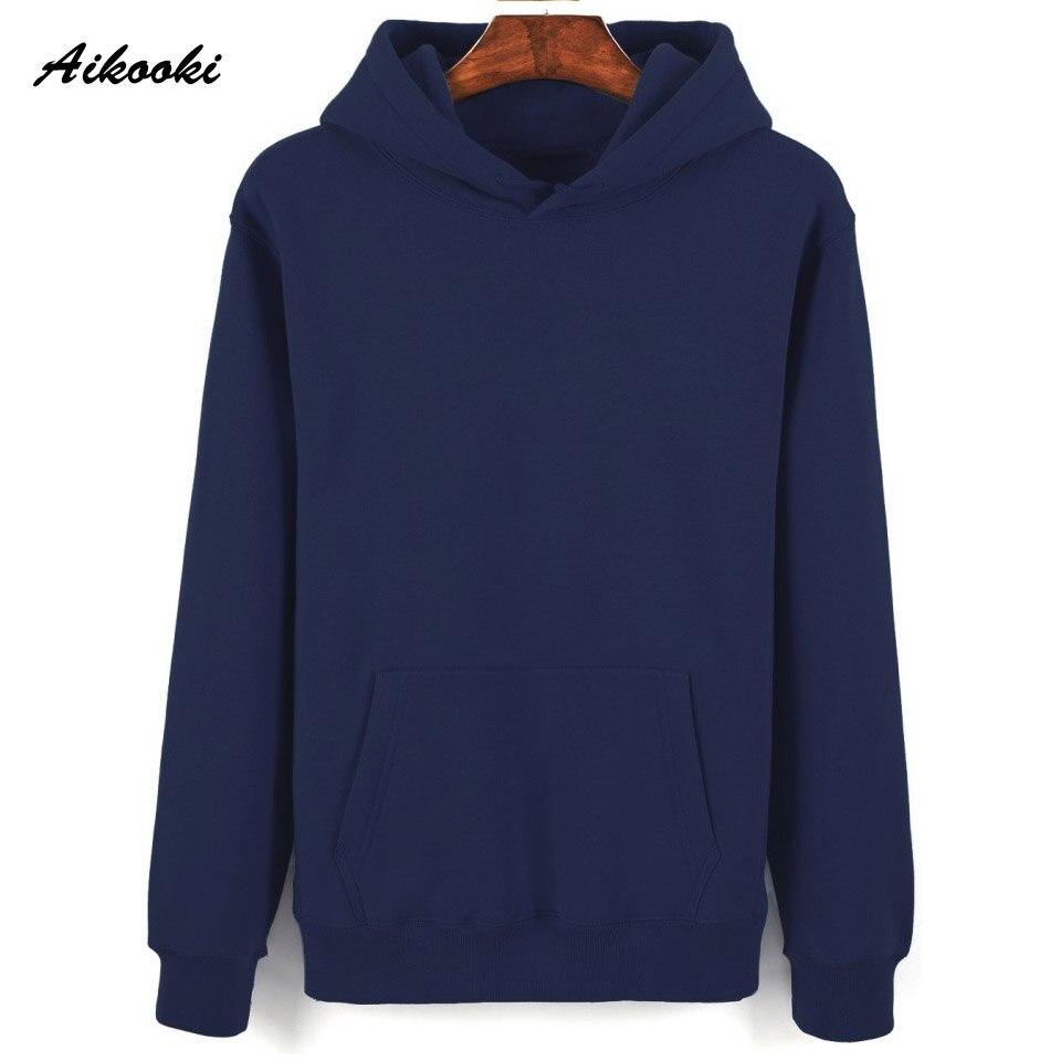 Solid Hoodies Aikooki Fashion Hip Hop Casual Cotton Sweathirt Women/Men Hoodies Men Pullover Sweatshirt Women Hoodie Tops