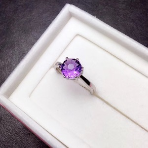 Image 5 - ที่เรียบง่ายและประณีต 925 Silver Amethystแหวนพิเศษราคาดึงดูดความสนใจ