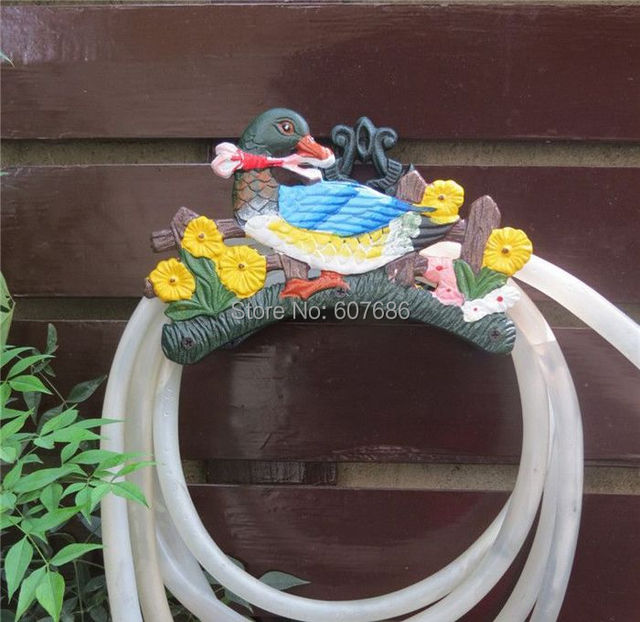 Cast Iron Duck Hose Pipe Reel Rope Holder Vintage Garden Hose Hanger Yard  Patio Lawn Wall