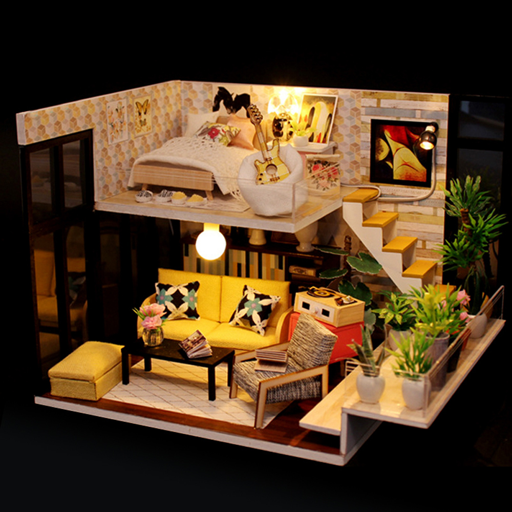 Luxury Provence Villa Furniture Dollhouse Miniature DIY Kit with ...