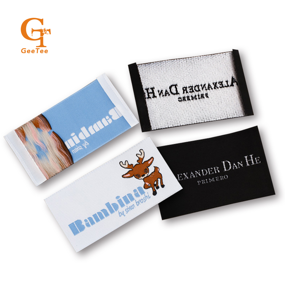 Custom Logo Brand Woven Clothing Labels Tags For Clothescustomized
