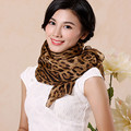 New Arrival Winter Scarf Women Cozy Shawls And Scarves Leopard Print Chiffon Silk Scarf Women 195*65cm