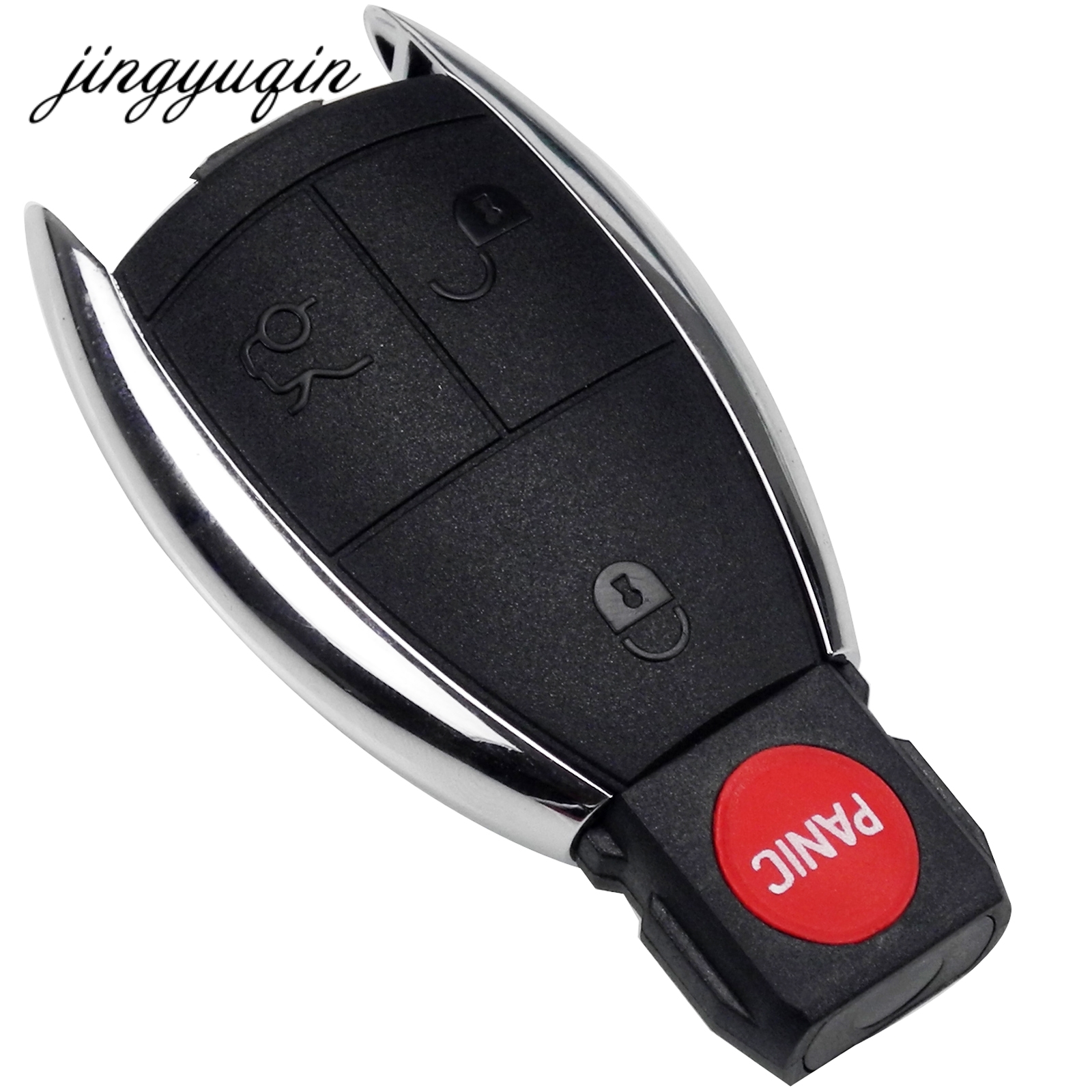 jingyuqin Modified 3 Buttons Remote Key Fob Case Cover For Mercedes