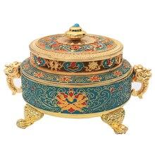 plating alloy Incense burner enamel color Tibetan censer antique fragrance living room household colour enamels Aroma Burner