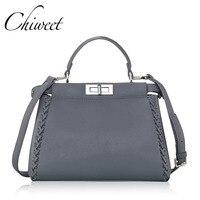 CHICHI Luxury Women Famous Brands Large Totes Fashion Messenger Bags Ladies Vintage Designer Peekaboo Shoulder Leather