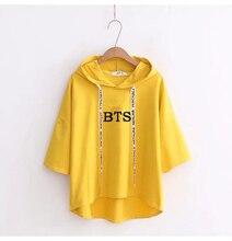 Kawaii Short Sleeve Hooded BTS T-Shirt