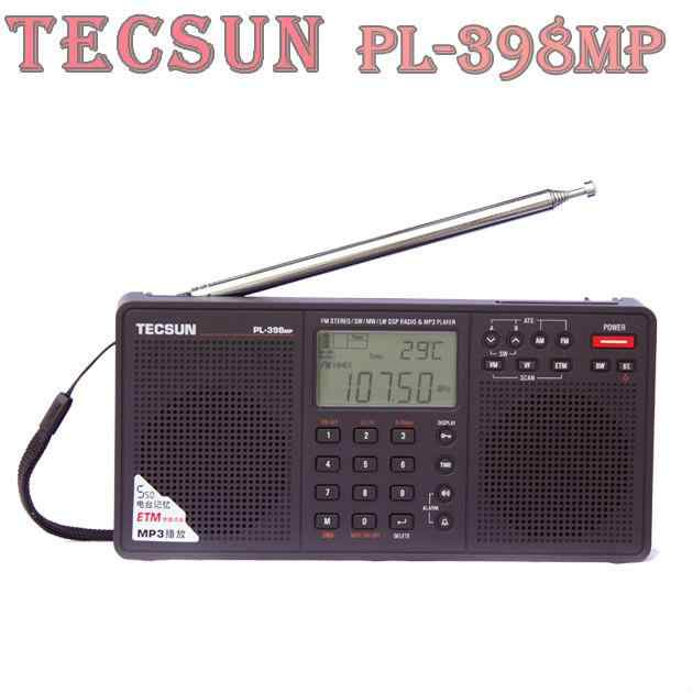 TECSUN PL-398MP FM Stereo/SW/MW/LW DSP Welt Band Radio Mp3-player-Schwarz