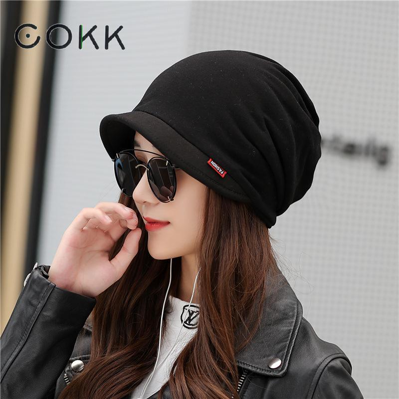 COKK Winter Hats For Women Men Unisex Turban Hat Beanie Stretch Hats Bonnet Winter Cap Ear Windproof Skullies Beanies Mask Scarf