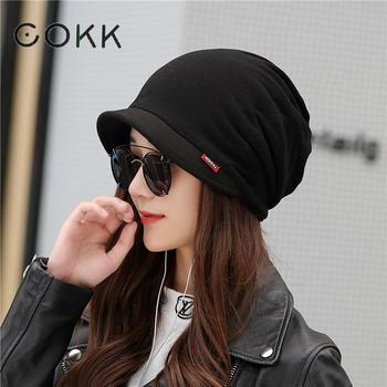 COKK Winter Hats For Women Men Unisex Turban Hat Beanie Stretch Bonnet Cap Ear Windproof Skullies Beanies Mask Scarf