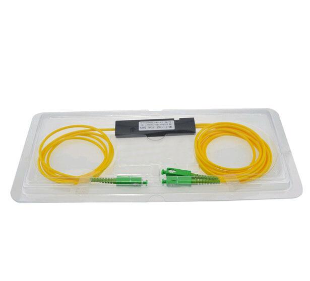 FTTH SCAPC 1X2 PLC divisor De Fibra Óptica Monomodo PLC SCAPC 1x2 PLC de fibra óptica divisor FBT Acoplador óptico Envío gratis