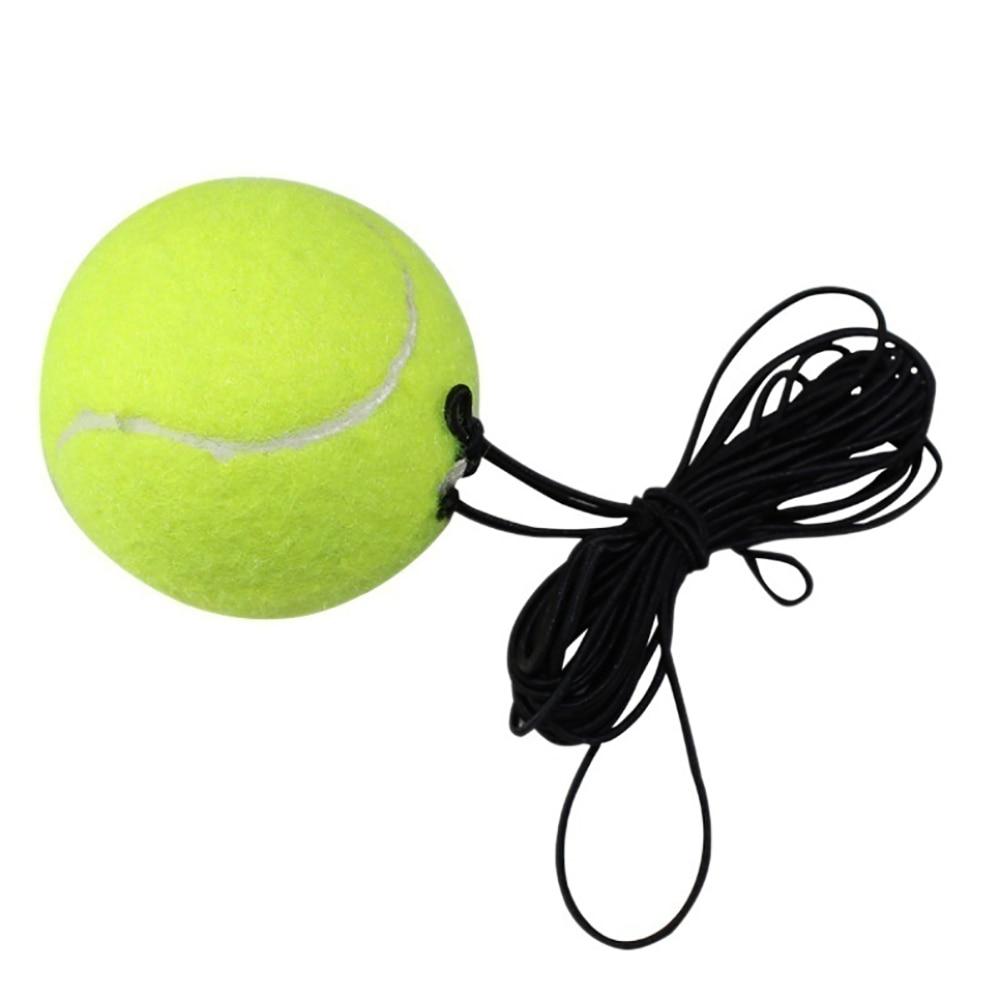 Single Training Tennis Ball Belt Line Cord Tool Practice Band Rubber Elastic