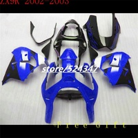 Body For KAWASAKI NINJA ZX9R 02 03 02 03 HM1844 ZX 9R blue black Body ZX 9R 9 R ZX9 R 02 03 2002 2003 Fairing