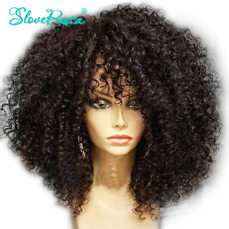 Glueless 4 4 Lace Closure Wig For Black Women Brazilian Remy Human Hair Afro Kinky Curly