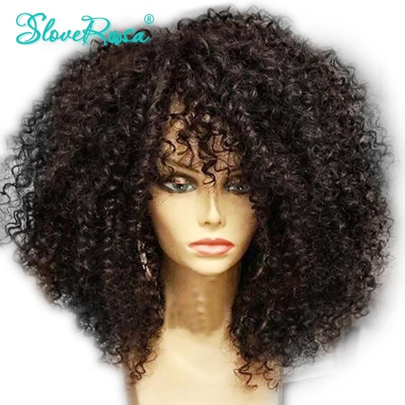 Riya Hair Full Lace Human Hair Wigs Afro Kinky Curly 1b Black Brazilian Remy Hair Pre Plucked Lace Wigs For Women With Baby Hair Human Hair Lace Wigs
