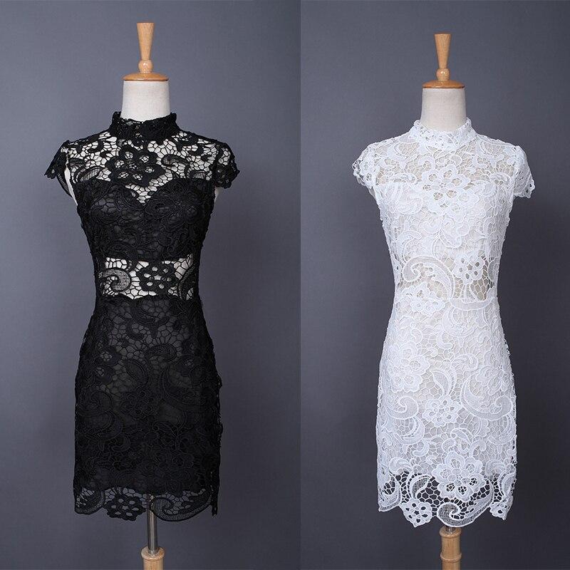 Lujo Vestido De Blanco Y Negro Del Partido Patrón - Ideas de ...