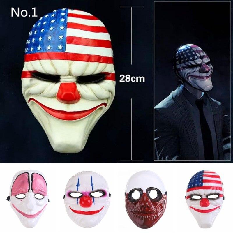 Party Mask Masqu PVC Scary Clown Mask Payday Halloween ... Scary Halloween Clown Masks