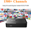 MAG250 + IPTV Súper IPTV 1500 Canales HotClub XXX Italiano Italia España Portugal Europa IPTV Linux Sistema STi7105 MAG 250 Caja de la Tv