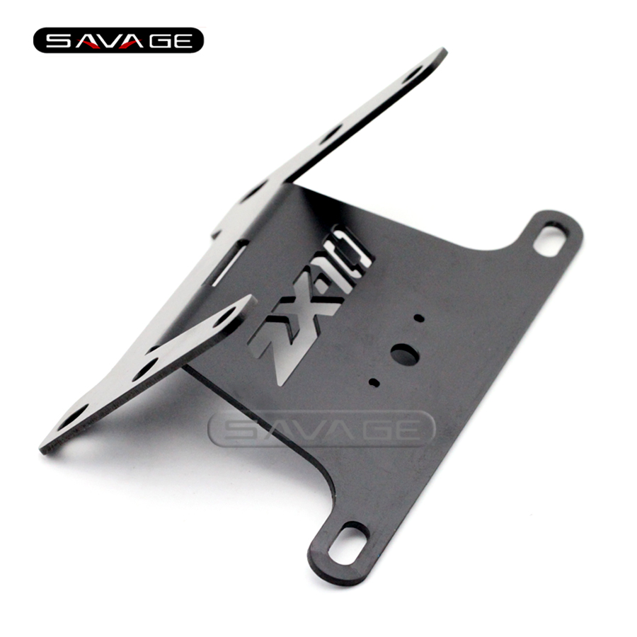 For KAWASAKI NINJA ZX10R ZX-10R 2004 2005 Black/Silver Motorcycle Tail Tidy Fender Eliminator Registration License Plate Holder for kawasaki zx6r zx 6r ninja 2007 2008 motorcycle tail tidy fender eliminator registration license plate holder led light