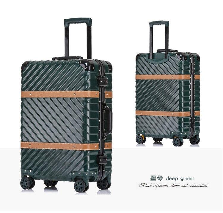 Nouveau Aluminium TSA Valise mala de viagem Voyage Chariot Bagages Spinner Koffer valise walizka valise valigia avec roulettes