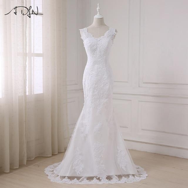 Adln Sexy Lace Mermaid Wedding Dresses High Quality Plus Size V Neck