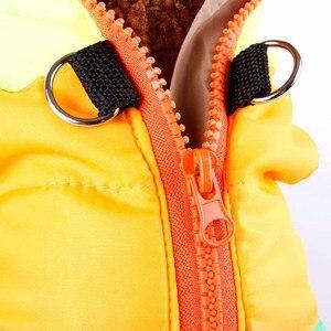 Image 3 - 인기있는 색상 차단 애완 동물 의류 개 옷 겨울 강아지 개 조끼 코 튼 패딩 자 켓 코트 치와와 테 디 푸들 XS L