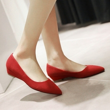 fanyuan new Sprig/Autumn Women Pumps Fashion Flock Square Heel Shoes Pointd Toe Platform Casual Ladies Size 34-43