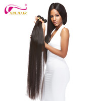 XBLHAIR Long Hair Weave 30 40 Brazilian Straight Human Hair Weaves Virgin Hair Extensions Natural Color Free Shipping