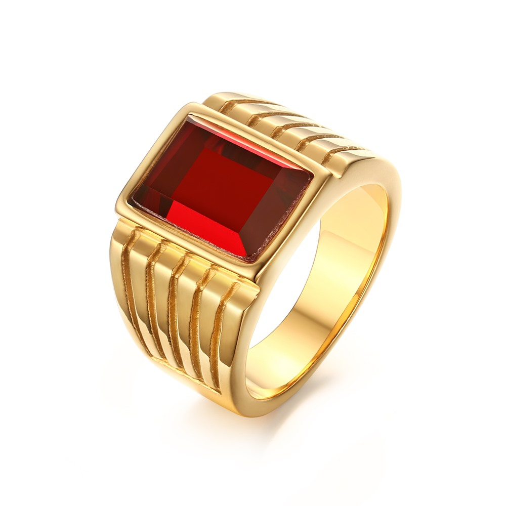 Jewelry New Mens Big Simulated Rings Plated For Men Jewelry Latest Gothic Aneis Homens Wholesale Rc-285