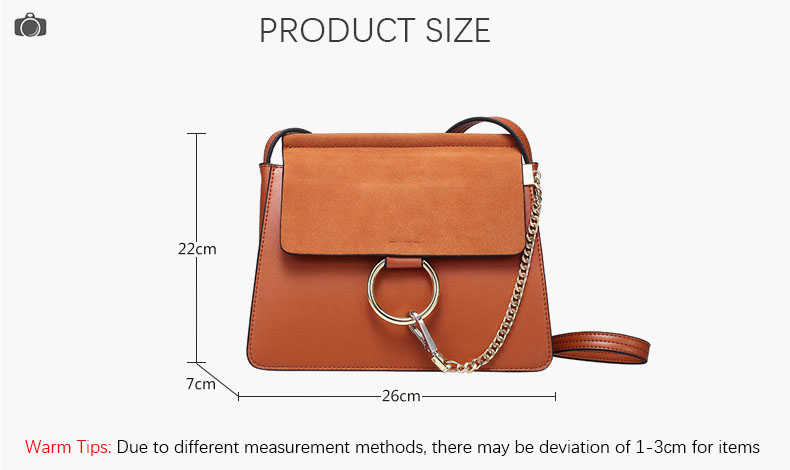 100% Genuine Leather Women Shoulder Bags Famous Brand Metal Ring Chains Women Crossbody Bags Retro Natural Leather Lady Handbag (8)