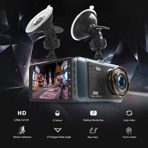 """Image 2 - Voiture Dash Cam 4 """"HD 1080P enregistreur de conduite 170 degrés grand Angle Vision nocturne voiture DVR véhicule double lentille caméra de tableau de bord g sensor"""