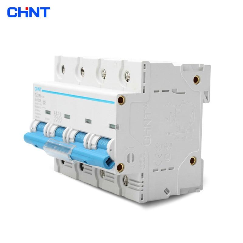 CHNT High Power Household Miniature Circuit Breaker DZ158 4P 100A Chint Air Switch цена 2017