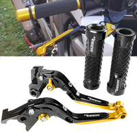 For YAMAHA XT660r XT660 r 2004 2017 2005 2006 2007 Motorcycle CNC Aluminum Pivot Foldable Brake Clutch Lever Handlebar Grips set
