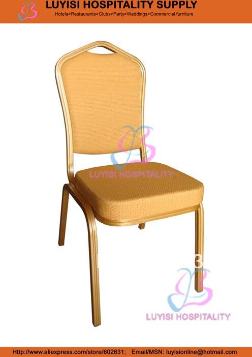 Gold Aluminum Hotel Chair