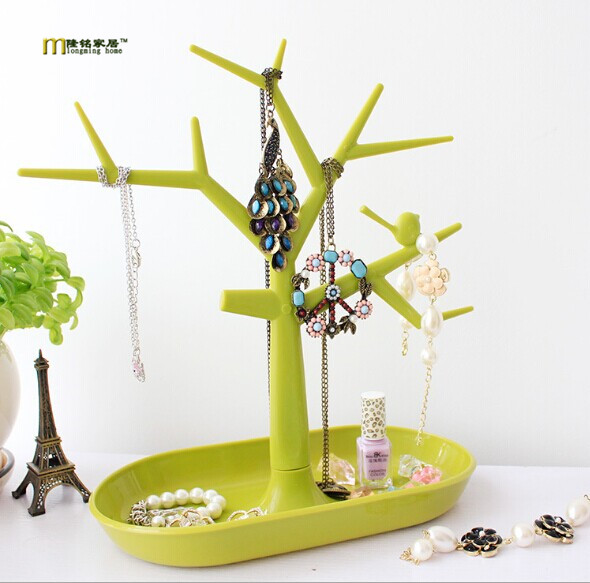 1PC Bird tree branch shape key storage rack jewelry organizer plastic storage shelving hanger for keys earring display OK 0086