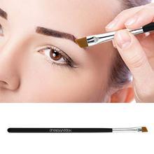 1PC Eyebrow Brush Single Beveled Wooden Handle Eye Powder Foundation Makeup