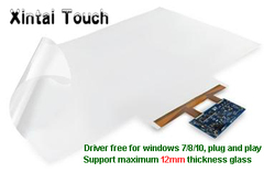 Xintai Touch 75 Inch 20 Punten Usb Interactief Touch Folie Voor Projectie Display Venster, Transparante Capacitieve Touch Film
