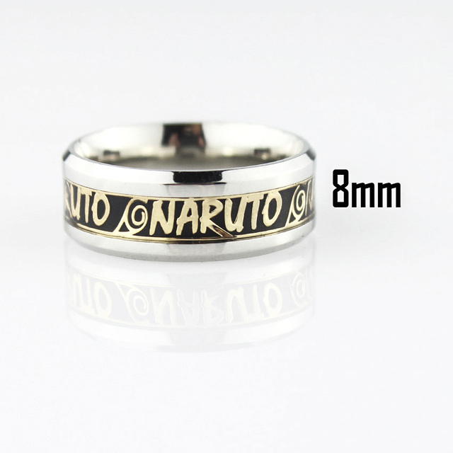 Naruto Ring Stainless Steel Jewelry Men Women Rings Vintage Lord of The Rings