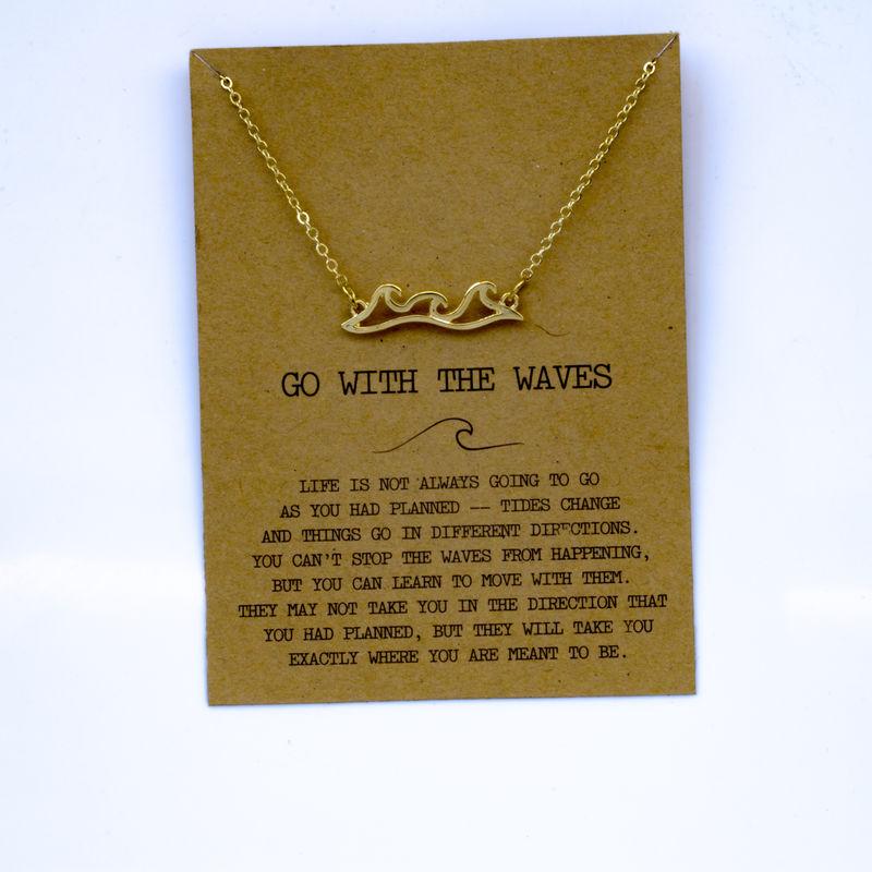 """SanLan 1 шт идут в комплекте ожерелье с подвеской """"волны"""" Океан ювелирные изделия - Окраска металла: 07"""