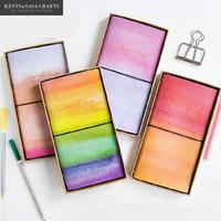 Rainbow Notebook Luxury Planner Sketchbook Diary Note Book Journal Stationery School Supplies Office Tools Agenda Colorful