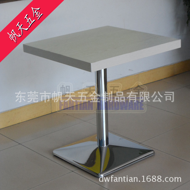Wholesale Fashion Square Restaurant Plated Stainless Steel Table - Stainless steel table accessories