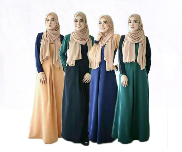 Islamic Abaya long Dresses  Dubai Turkish Ladies Clothing Women Muslim Dresses Women Arab Ladies Caftan Kaftan Malaysia Abayas