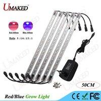 2set 50cm LED Grow Light SMD5050 660nm Red And 440nm Blue Led Lamp AC85 265V EU