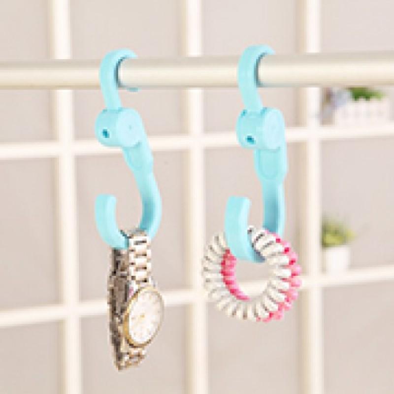 2Pcs Rotating Double Head Hanger Hook Towel Coat Rack Home Organizer Holder Decoration Accessories