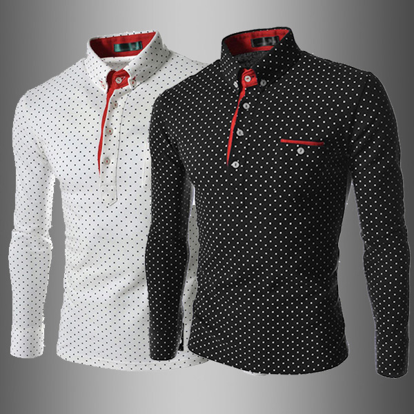 172d2777b New Fashion Men Slim Fit Long Sleeve POLO Shirt Brand Spring Autumn Skinny  Men's POLO Shirts Men Clothing 4 Size M L XL XXL Hot