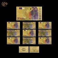 20 اليورو الذهب نوعية جيدة مصنوعات معدنية الذهب احباط ورقة العالم البنكنوت المال يستحق جمع