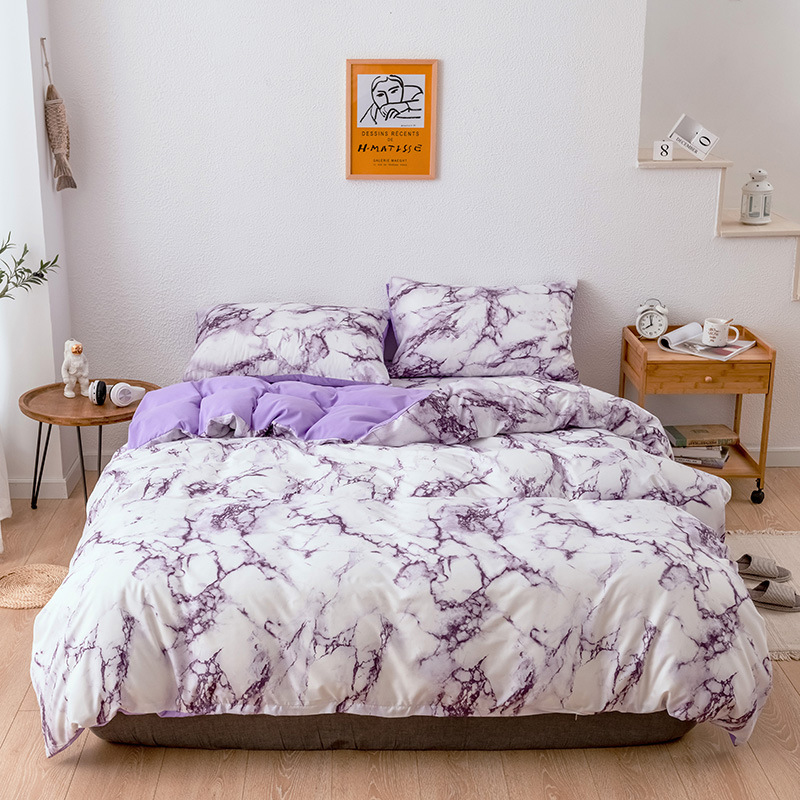 Marble Bedding Duvet Cover Set for Comforter Quilt Cover Twin Queen King Size